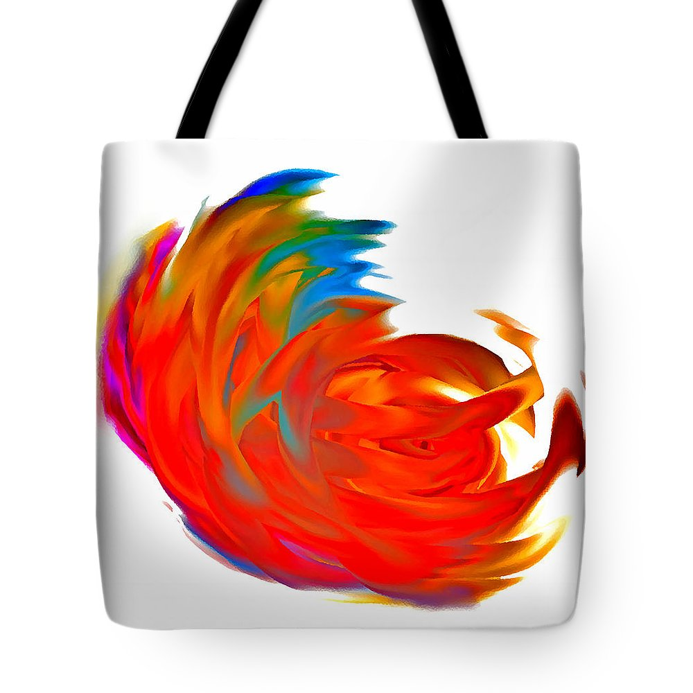 Fight Tote Bag featuring the digital art Fight Of Colors by Marcello Cicchini