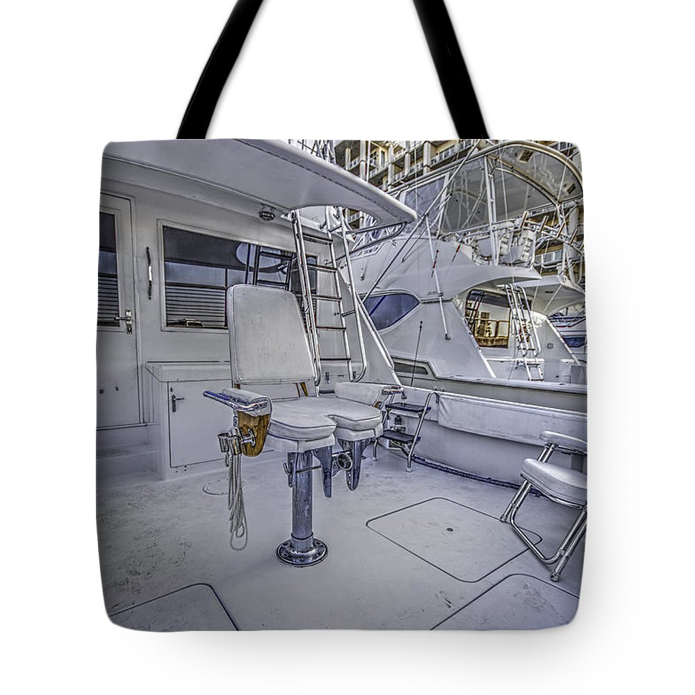 Palm Tote Bag featuring the digital art Fighting Chair by Michael Thomas
