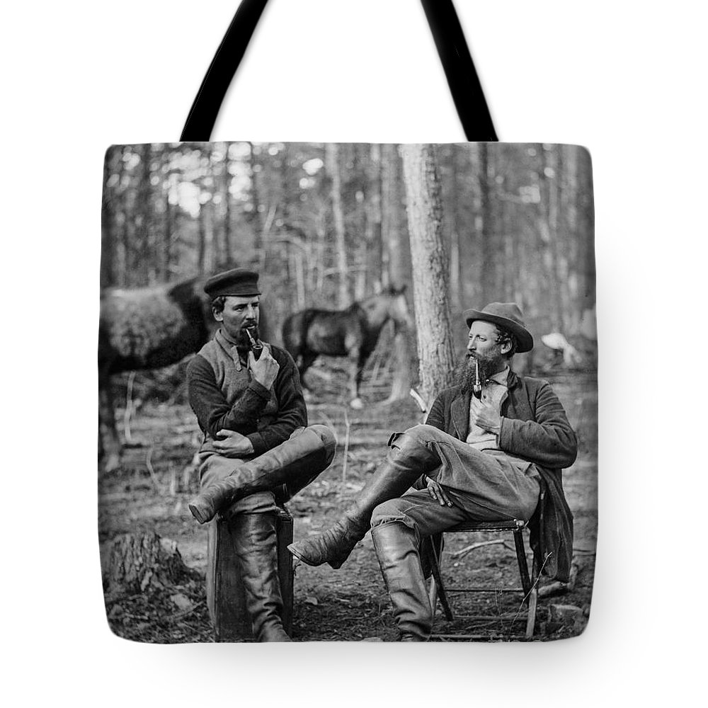 Civil War Tote Bag featuring the photograph Figuring Out The Next Big Move by Aged Pixel