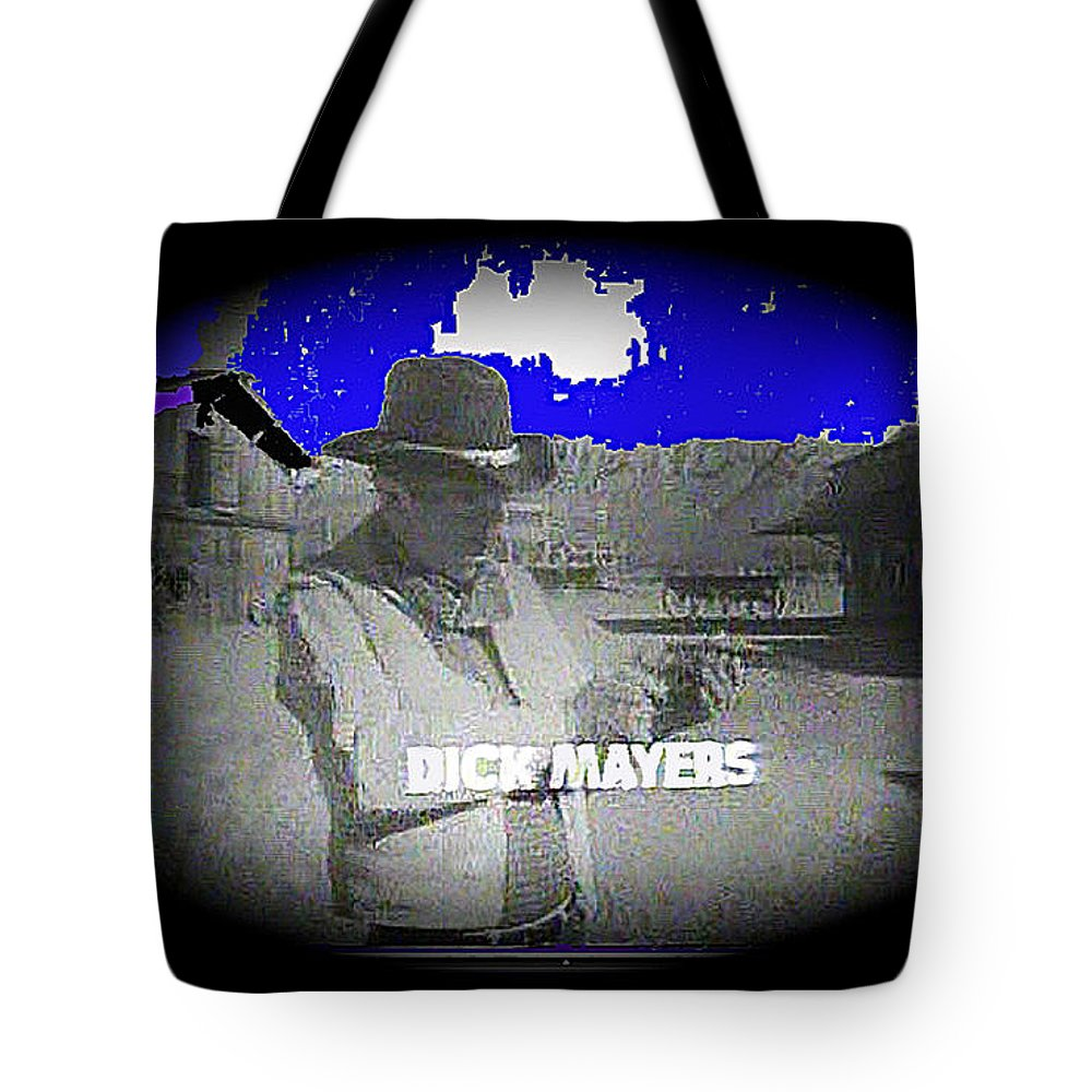 Film Homage Crime Does Not Pay Circa 1964 Dick Mayers Collage Screen Capture Black And White Color Added Vigetted Tote Bag featuring the photograph Film Homage Crime Does Not Pay Circa 1964 Dick Mayers Collage Screen Capture Circa 1964-2011 by David Lee Guss