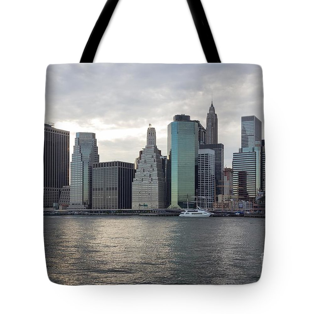 Architectural Tote Bag featuring the photograph Financial District Skyline by Jannis Werner