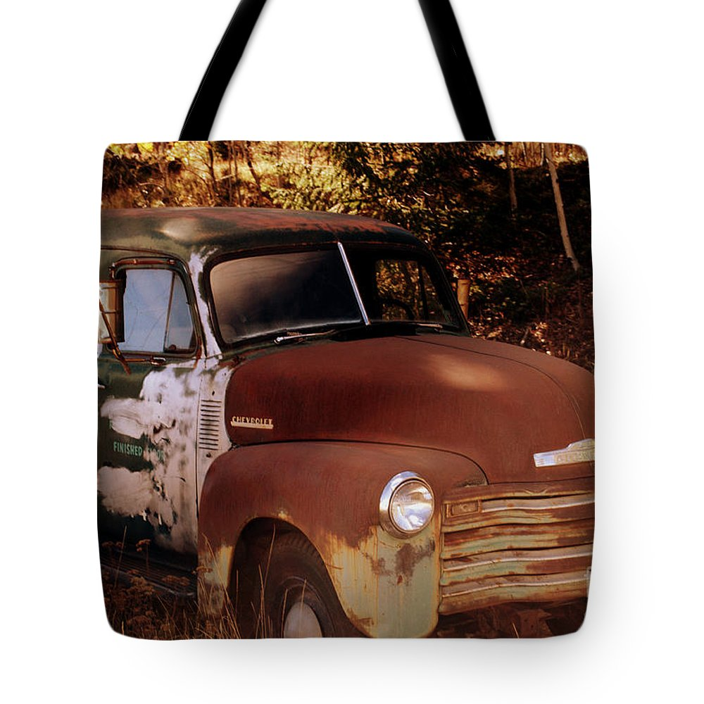 Chevrolet Panel Truck Tote Bag featuring the photograph Chevy Shadows by Anjanette Douglas