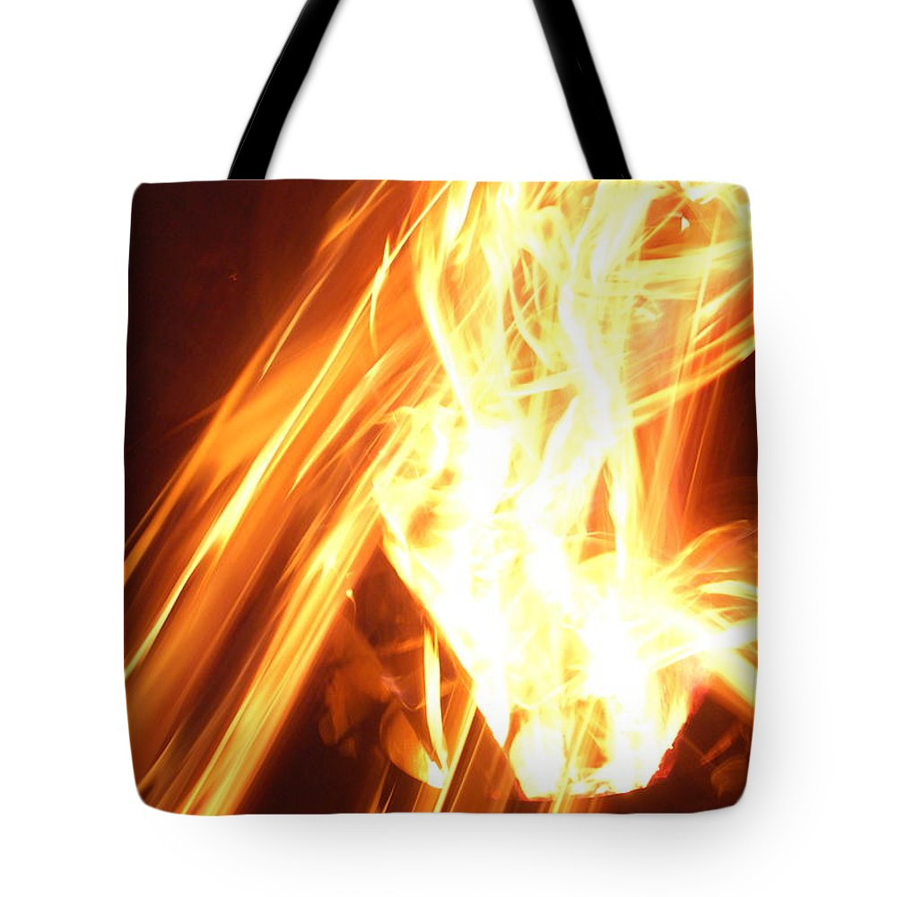 Fire Tote Bag featuring the photograph Fire by Aimee L Maher ALM GALLERY