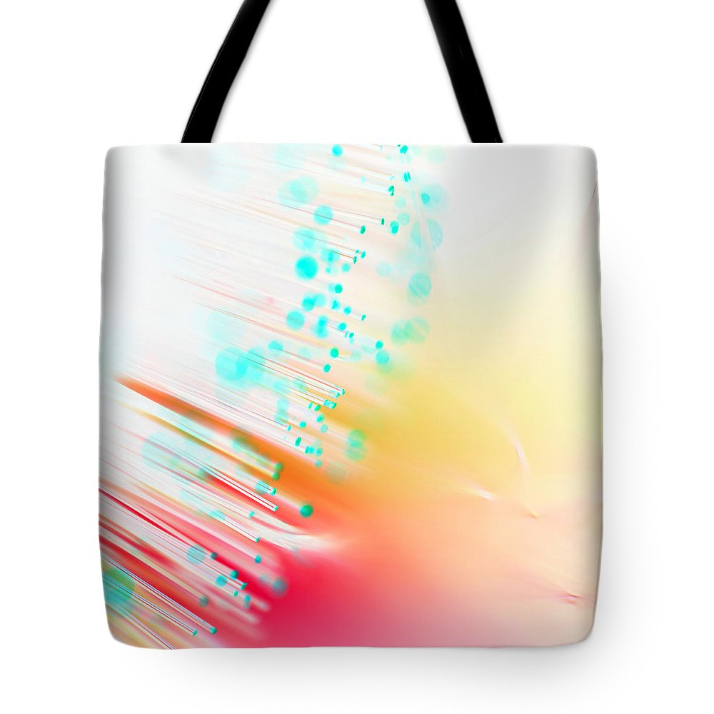 Abstract Tote Bag featuring the photograph Fire And Light by Dazzle Zazz