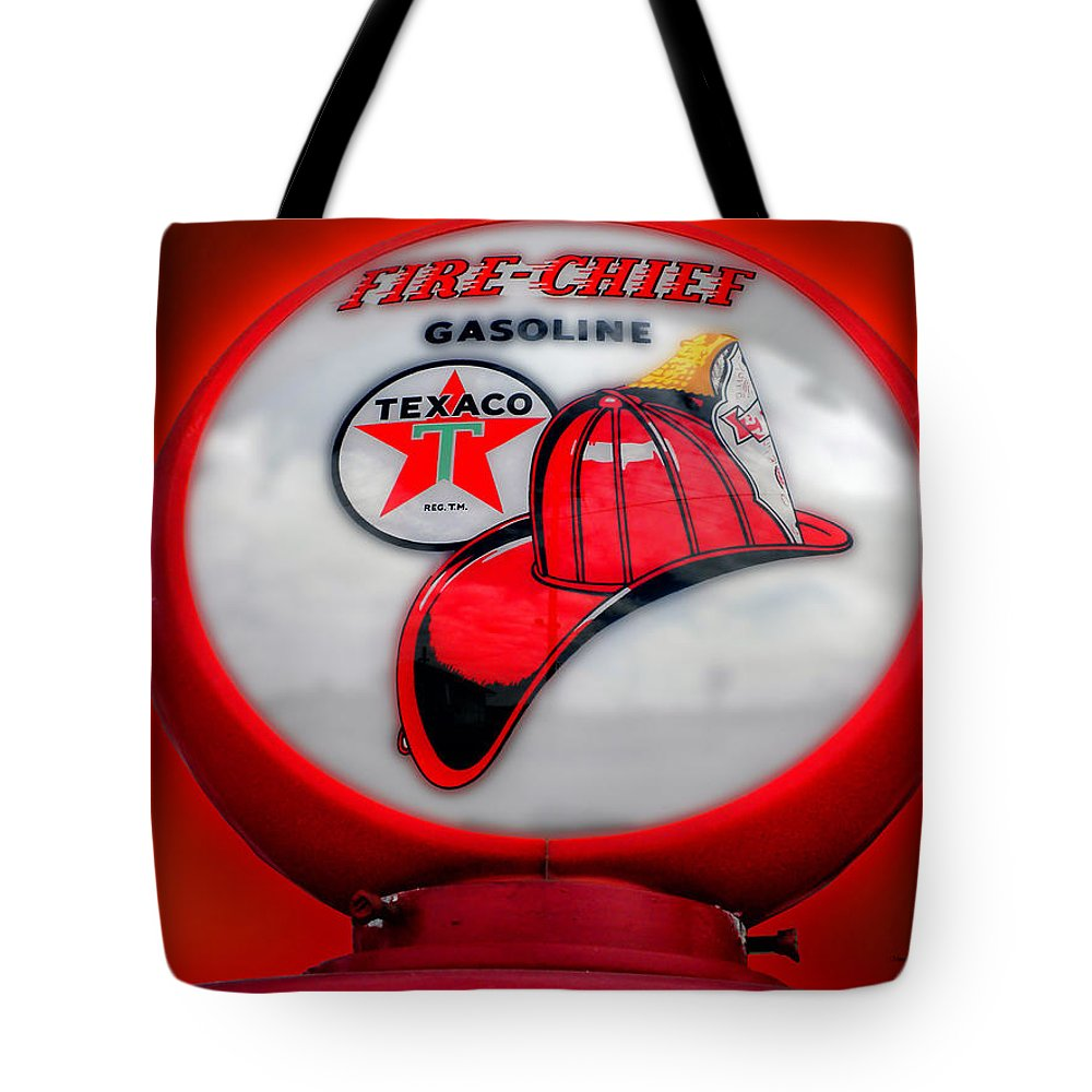 Car Tote Bag featuring the photograph Fire Chief Gasoline Globe by Thomas Woolworth