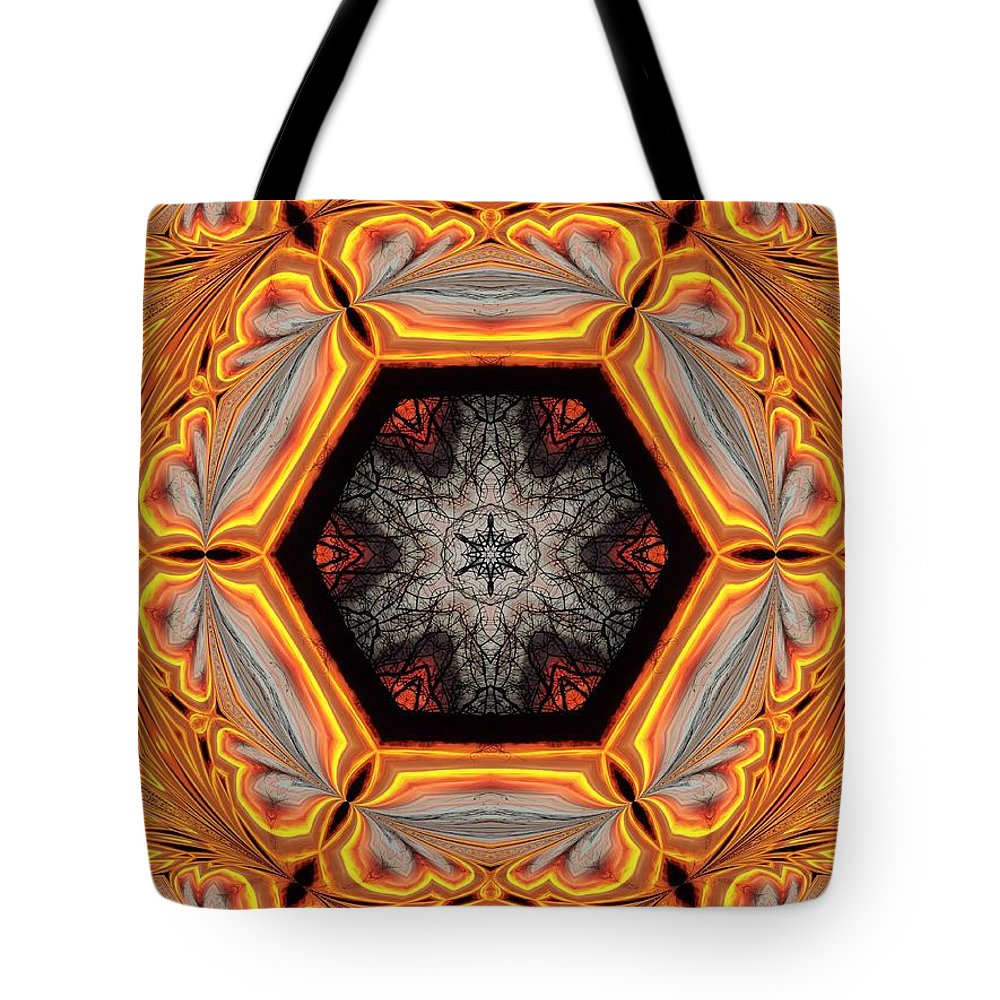 Abstract Tote Bag featuring the photograph Fire Circle by Bonfire Photography