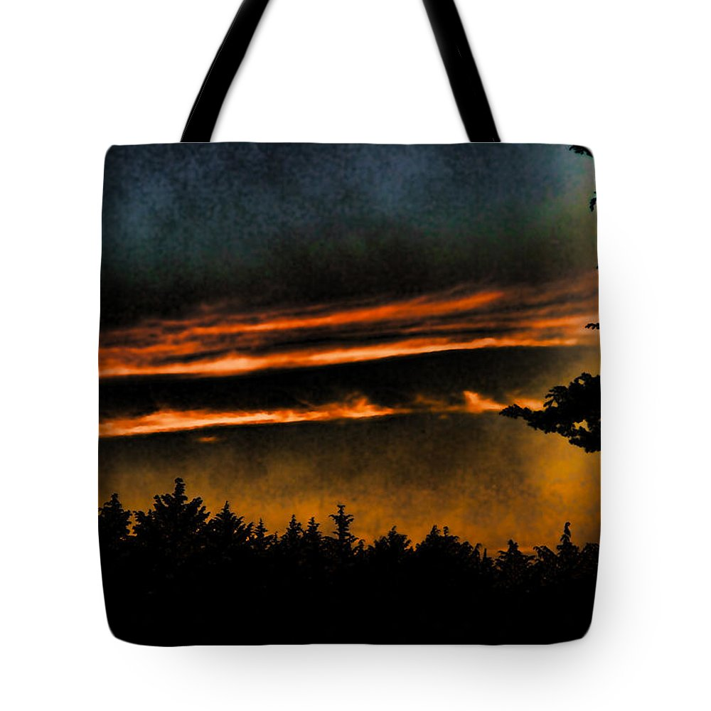 Clouds Tote Bag featuring the photograph Fire Clouds by Agustin Uzarraga