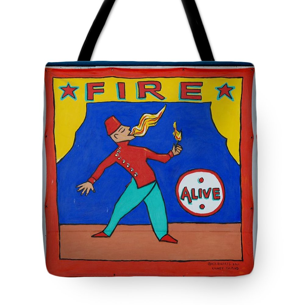 Brooklyn Tote Bag featuring the photograph Fire Eater by Rob Hans