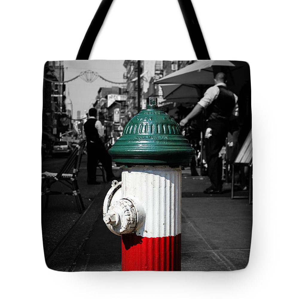 Fire Hydrant Tote Bag featuring the photograph Fire Hydrant From Little Italy by Sam Garcia