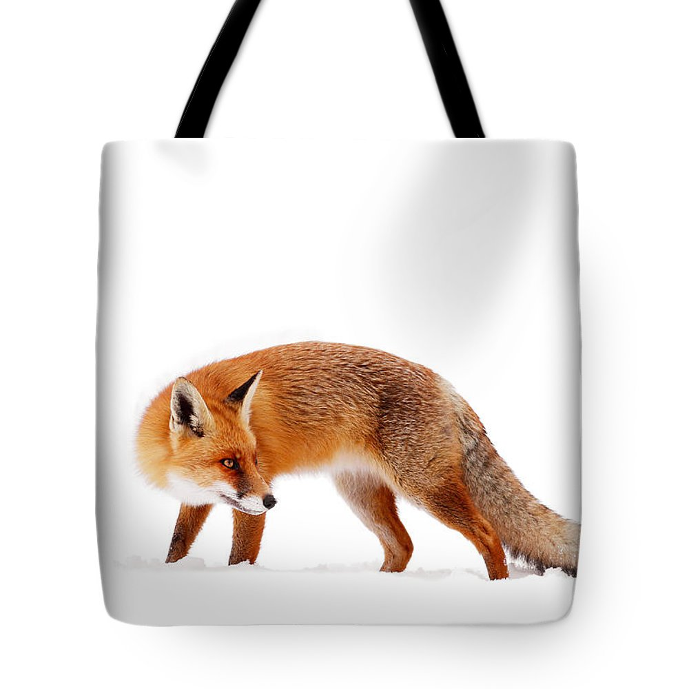 Fox Tote Bag featuring the photograph Fire 'n Ice by Roeselien Raimond