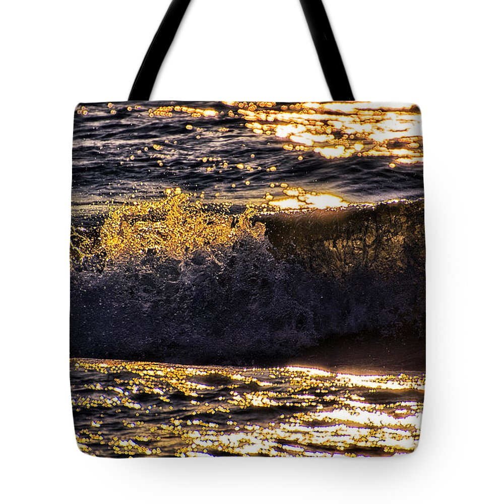 Lake Michigan Tote Bag featuring the photograph Fire On The Water by Thomas Woolworth
