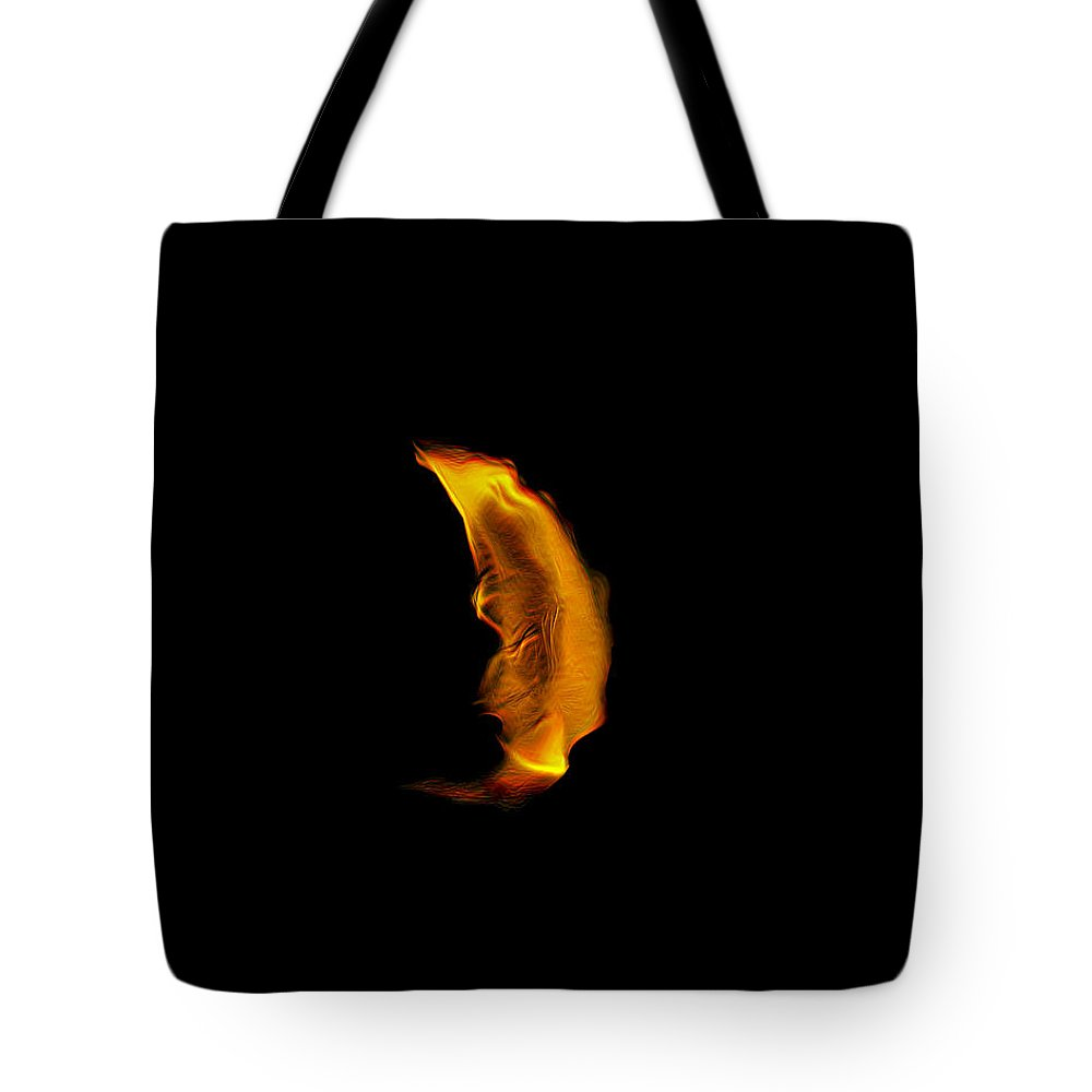Fire Tote Bag featuring the photograph Fire Sign by Wes Jimerson