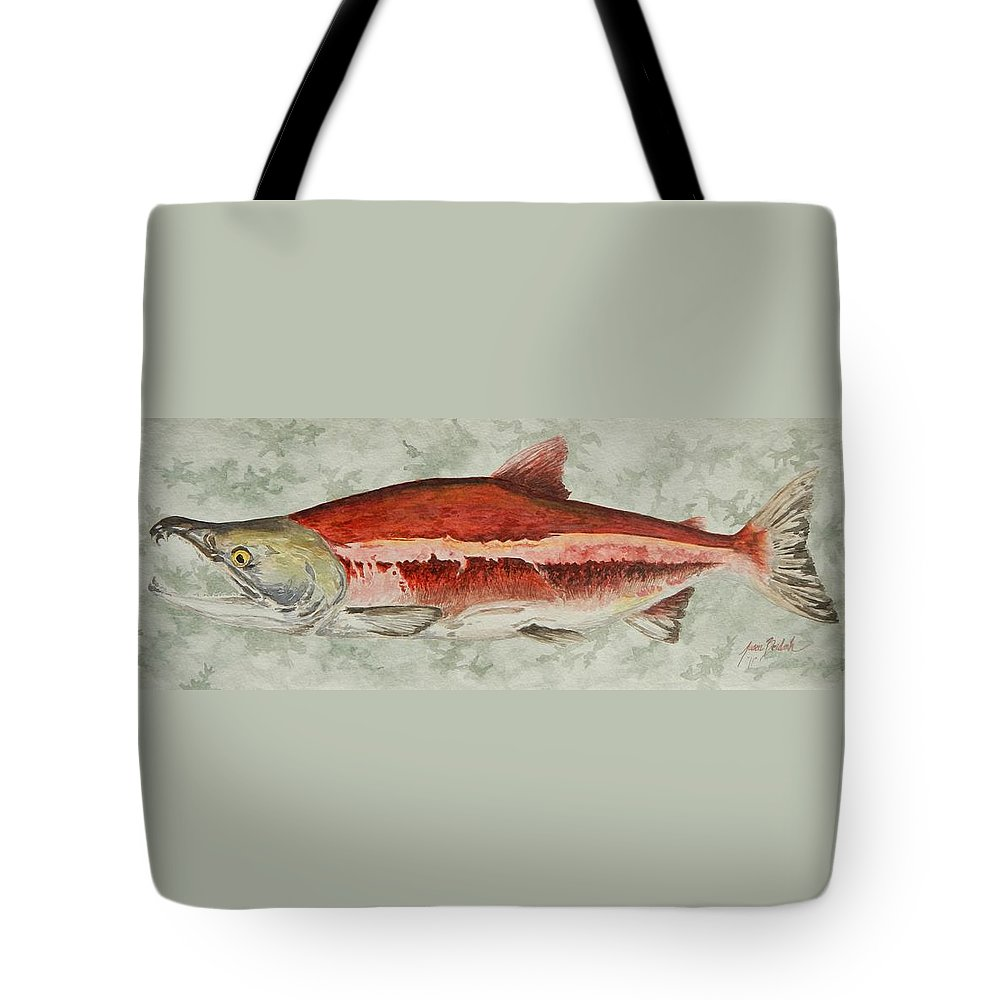 Fish Tote Bag featuring the painting Fire Truck by Jason Bordash