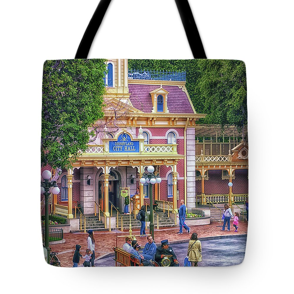 Disney Tote Bag featuring the photograph Fire Truck Main Street Disneyland by Thomas Woolworth