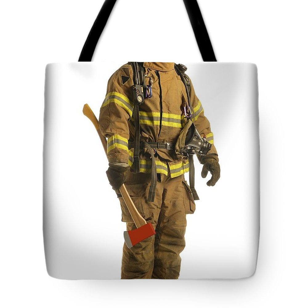 Job Tote Bag featuring the photograph Firefighter by Don Hammond