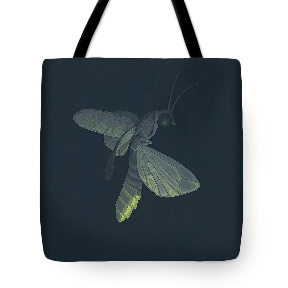 Painting Tote Bag featuring the painting Firefly by Nathan Marcy