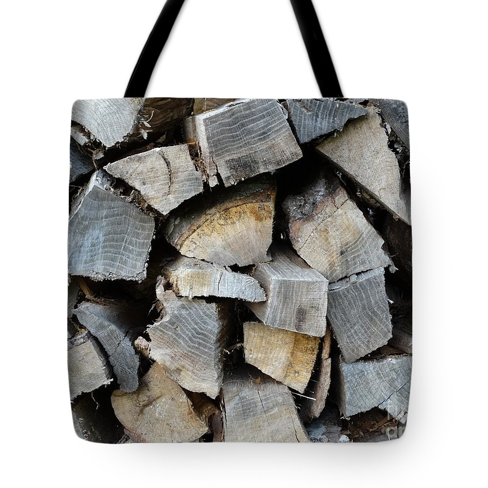 Wood Tote Bag featuring the photograph Firewood by Joseph Baril