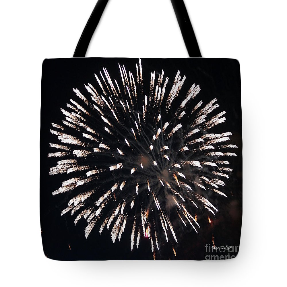 July Tote Bag featuring the photograph Fireworks Series X by Suzanne Gaff