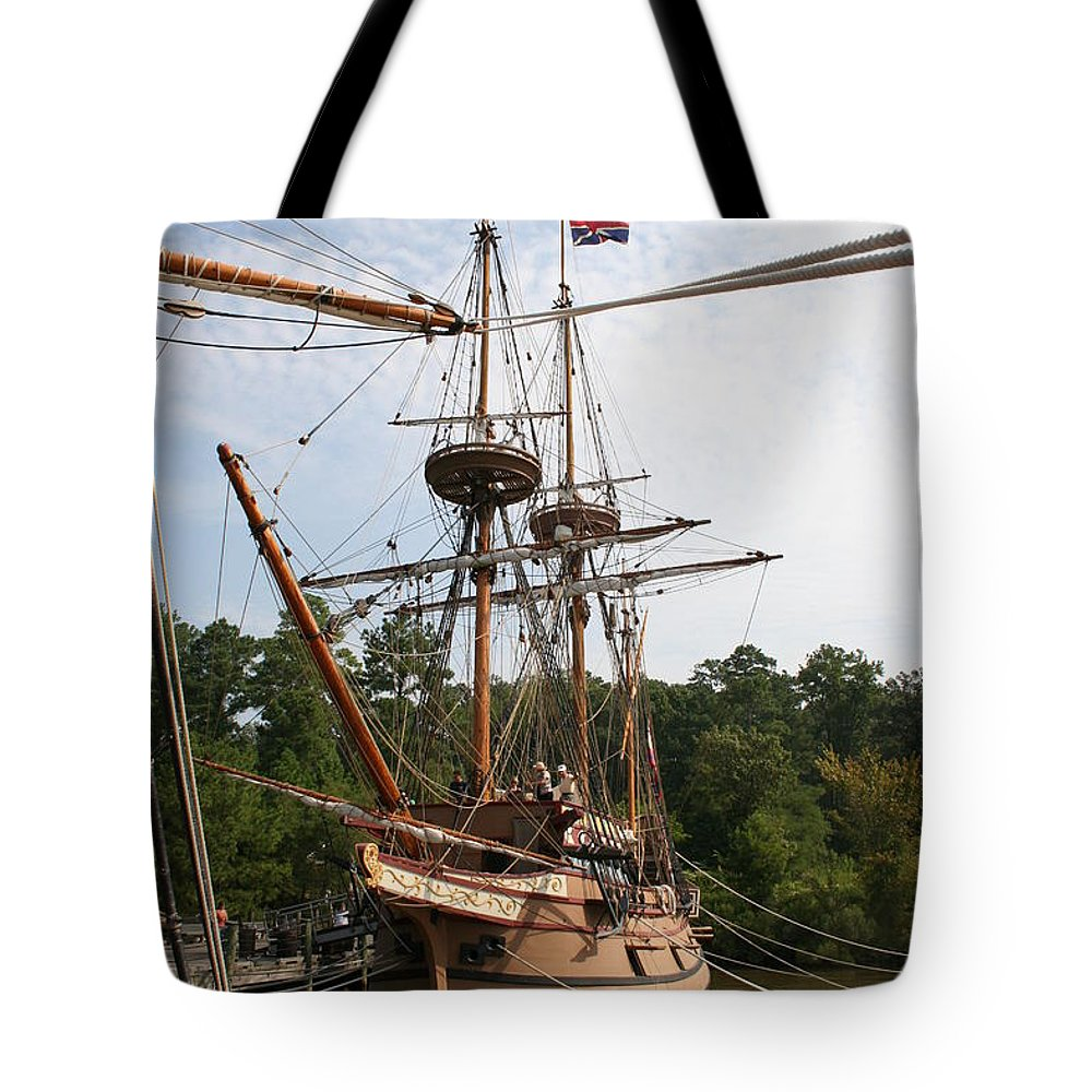 Sailing Boat Tote Bag featuring the photograph First Arrivals by Christiane Schulze Art And Photography