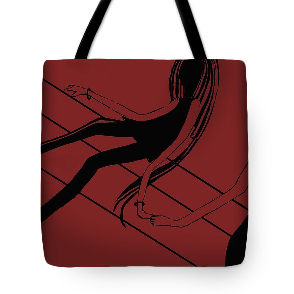 Fineartamerica.com Tote Bag featuring the painting First Love  Number 15 by Diane Strain