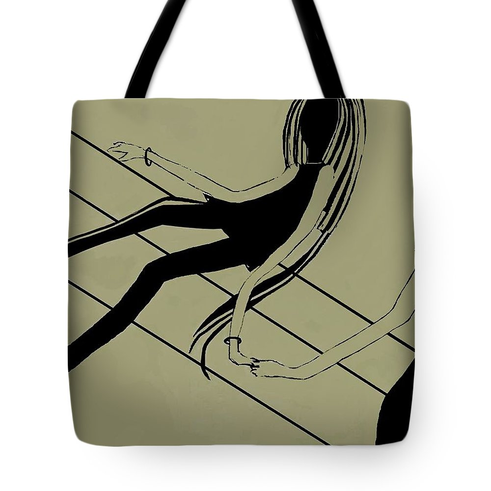 Fineartamerica.com Tote Bag featuring the painting First Love  Number 5 by Diane Strain