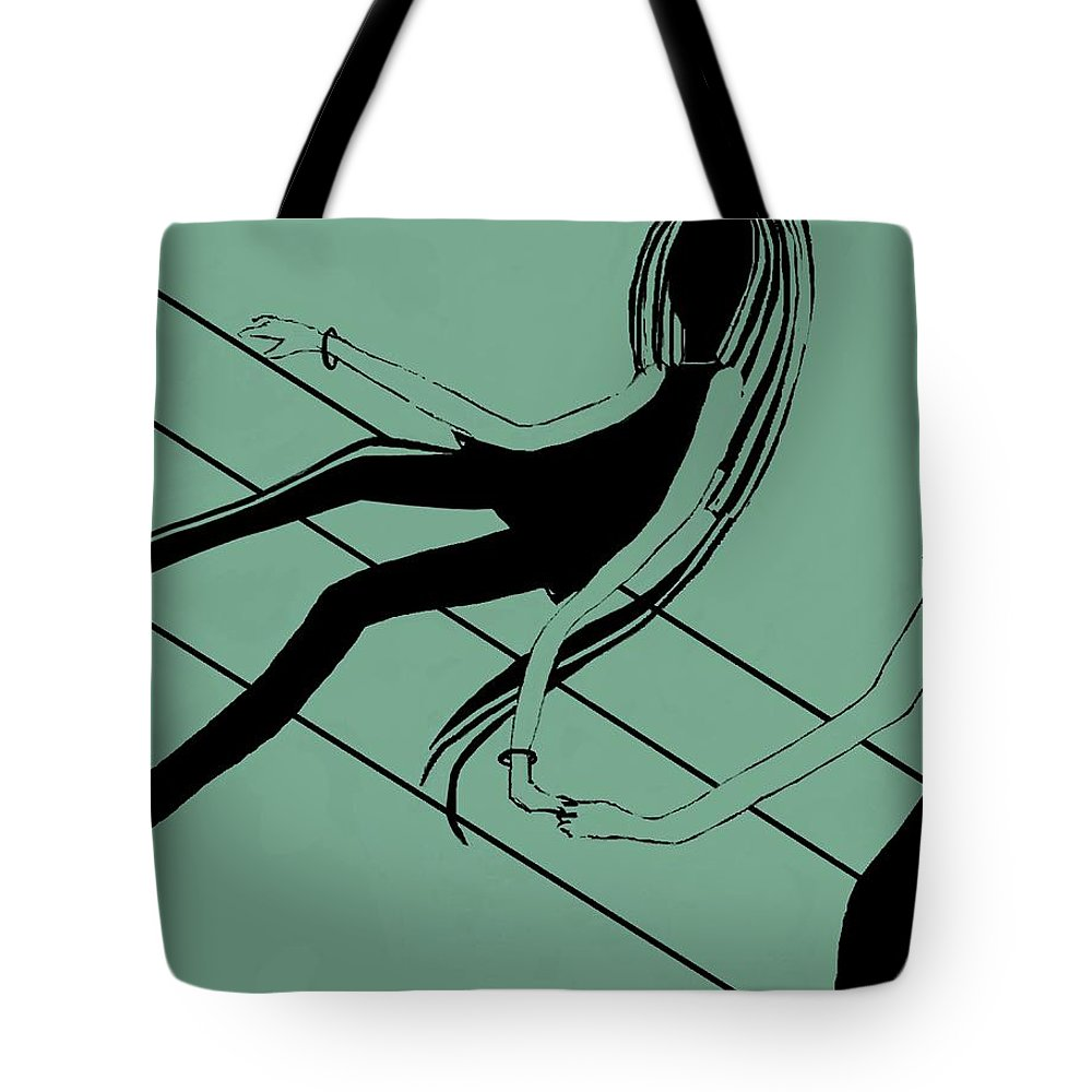 Fineartamerica.com Tote Bag featuring the painting First Love  Number 8 by Diane Strain