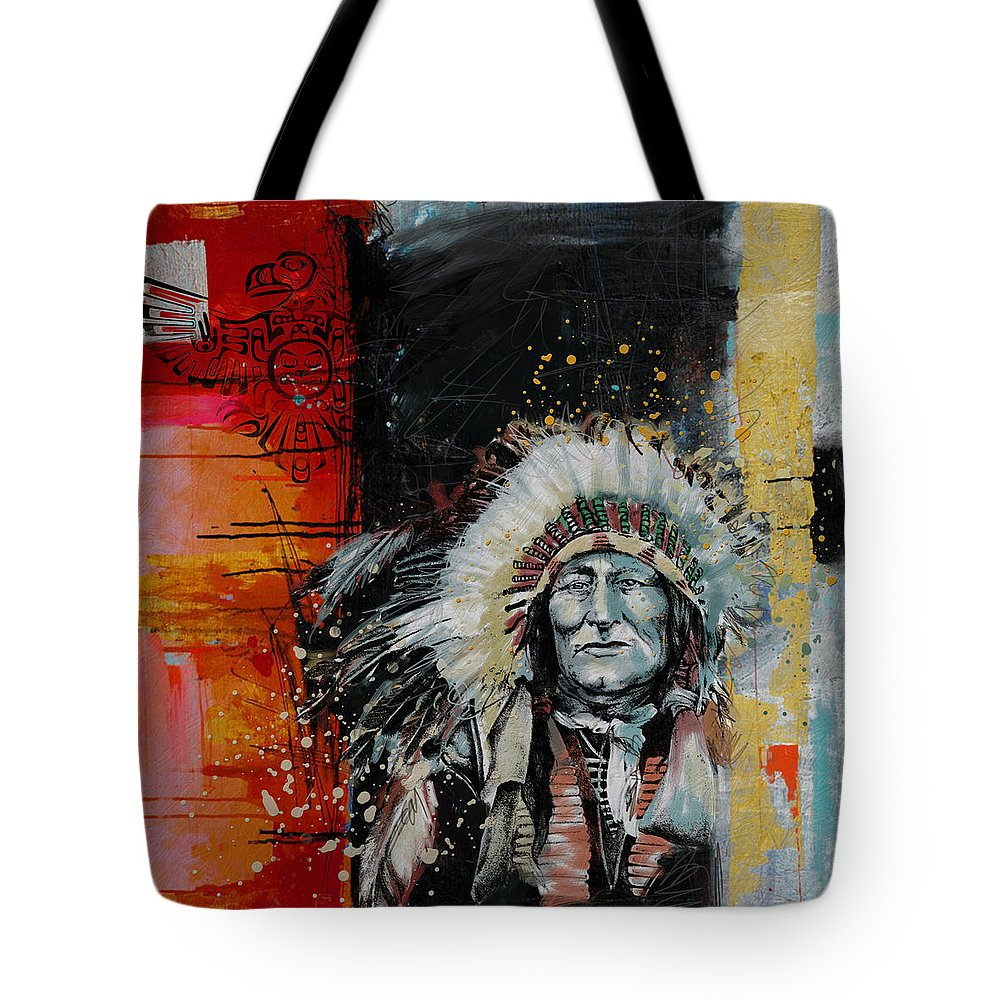 Aboriginals Tote Bag featuring the painting First Nations 11 by Corporate Art Task Force