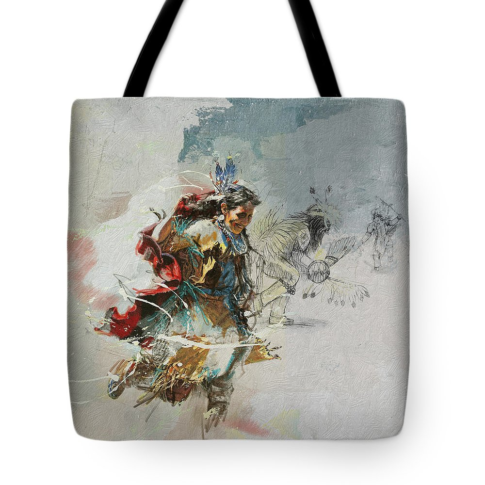 Aboriginals Tote Bag featuring the painting First Nations 20b by Corporate Art Task Force