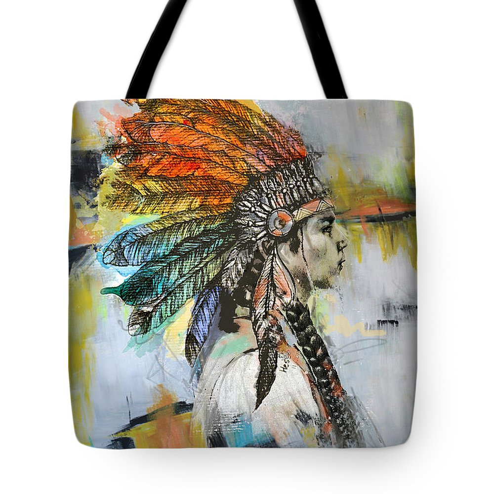 Aboriginals Tote Bag featuring the painting First Nations 26b by Corporate Art Task Force