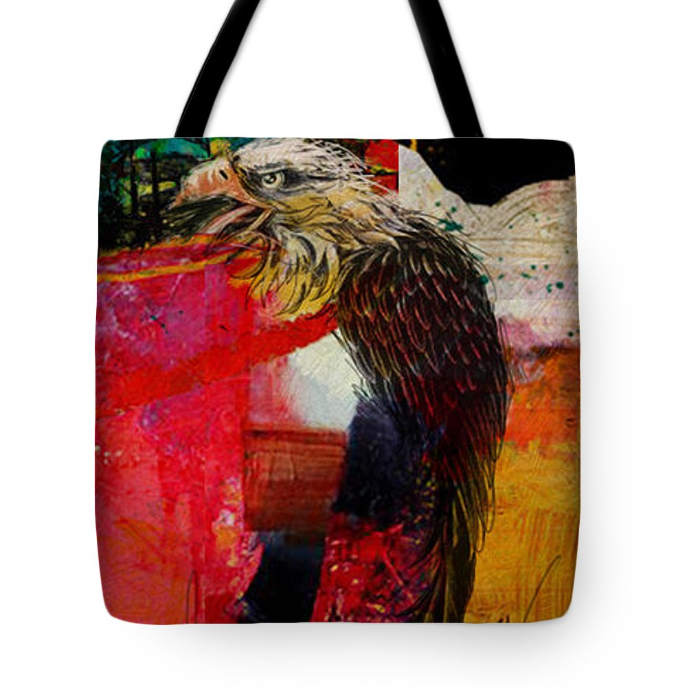 Aboriginals Tote Bag featuring the painting First Nations 29 by Corporate Art Task Force