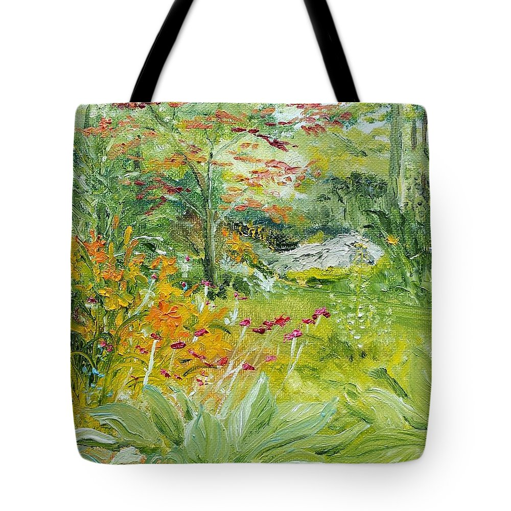 Garden Tote Bag featuring the painting First Of July by Susan Hanna