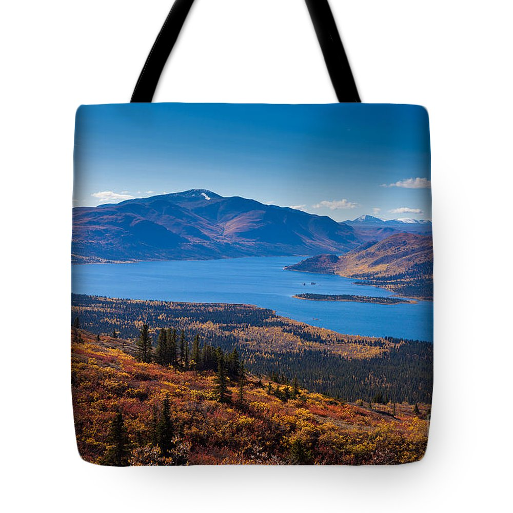 Adventure Tote Bag featuring the photograph Fish Lake - Yukon Territory - Canada by Stephan Pietzko
