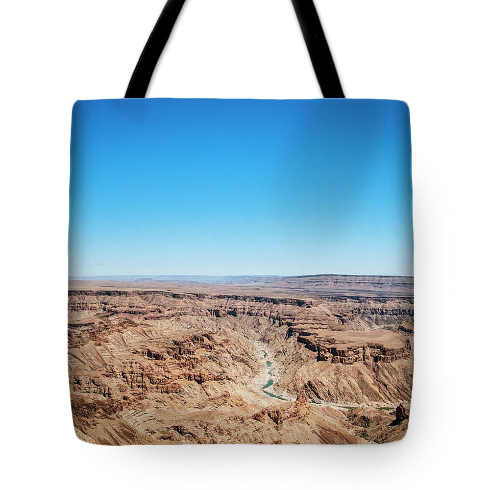 Extreme Terrain Tote Bag featuring the photograph Fish River Canyon, Namibia by Shaun