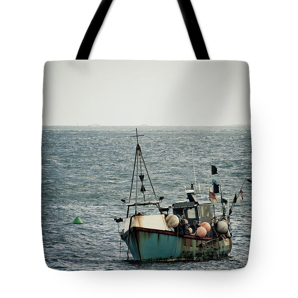 English Channel Tote Bag featuring the photograph Fishing Boat by Vfka