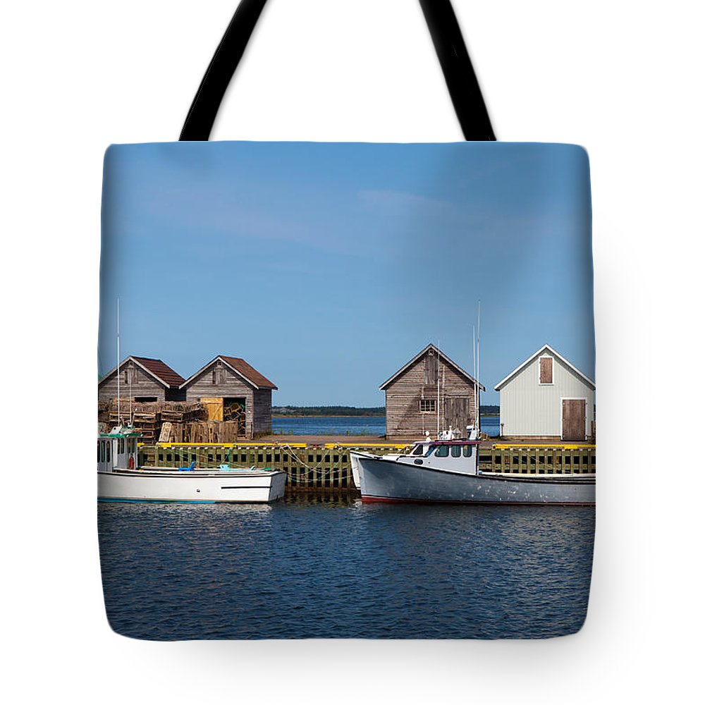 Fishing Tote Bag featuring the photograph Fishing Boats by Geoffrey Whiteway