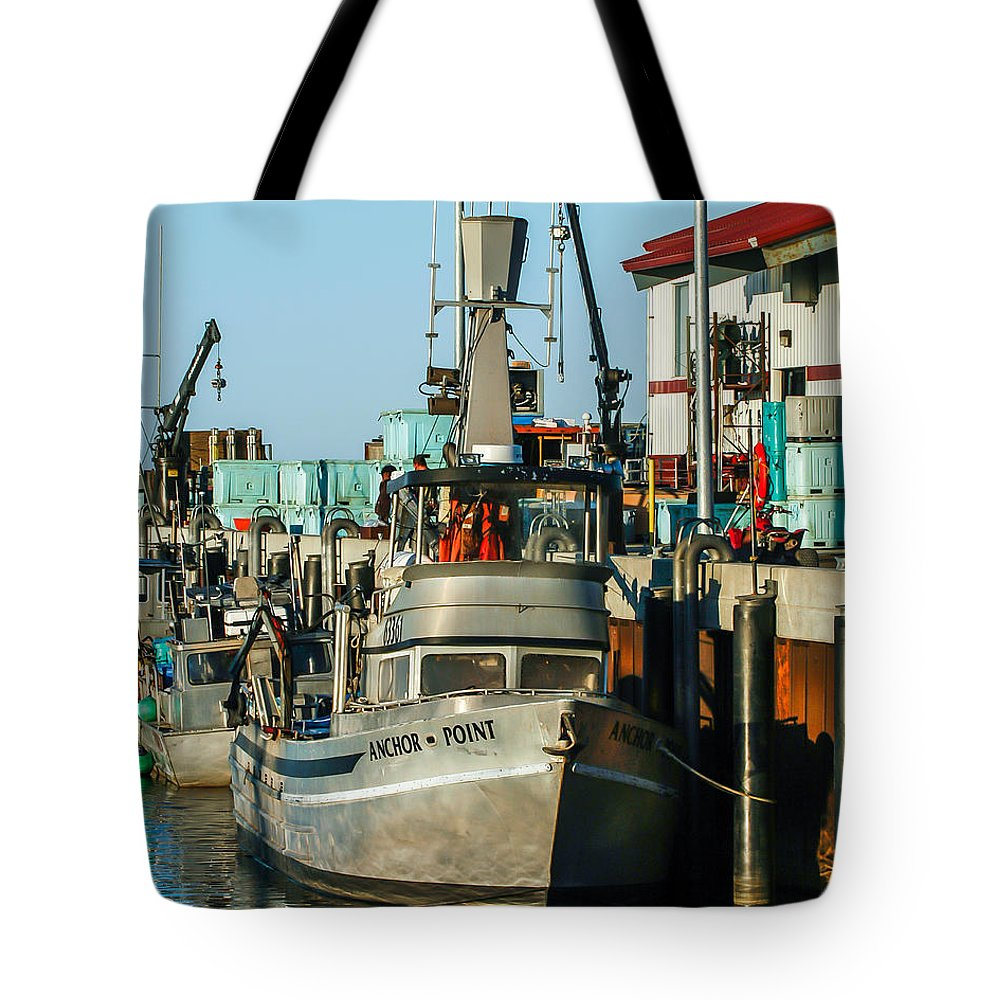 Nome Tote Bag featuring the photograph Fishing Boats In Nome by William Krumpelman