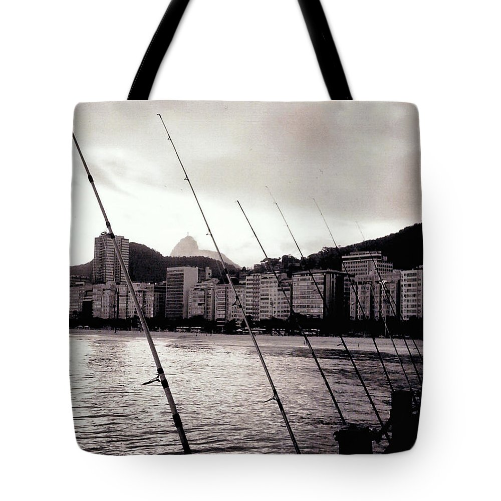 Fishing Tote Bag featuring the photograph Fishing In Rio by Glenn Aker