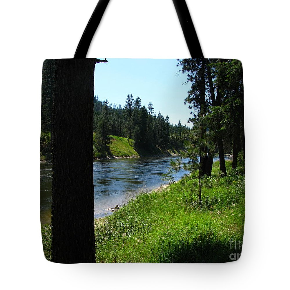 Art For The Wall...patzer Photography Tote Bag featuring the photograph Fishing Spot 1 by Greg Patzer