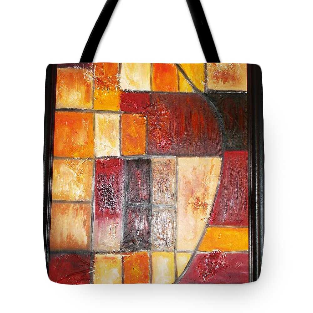 Oil Painting Tote Bag featuring the painting Fit by Yael VanGruber