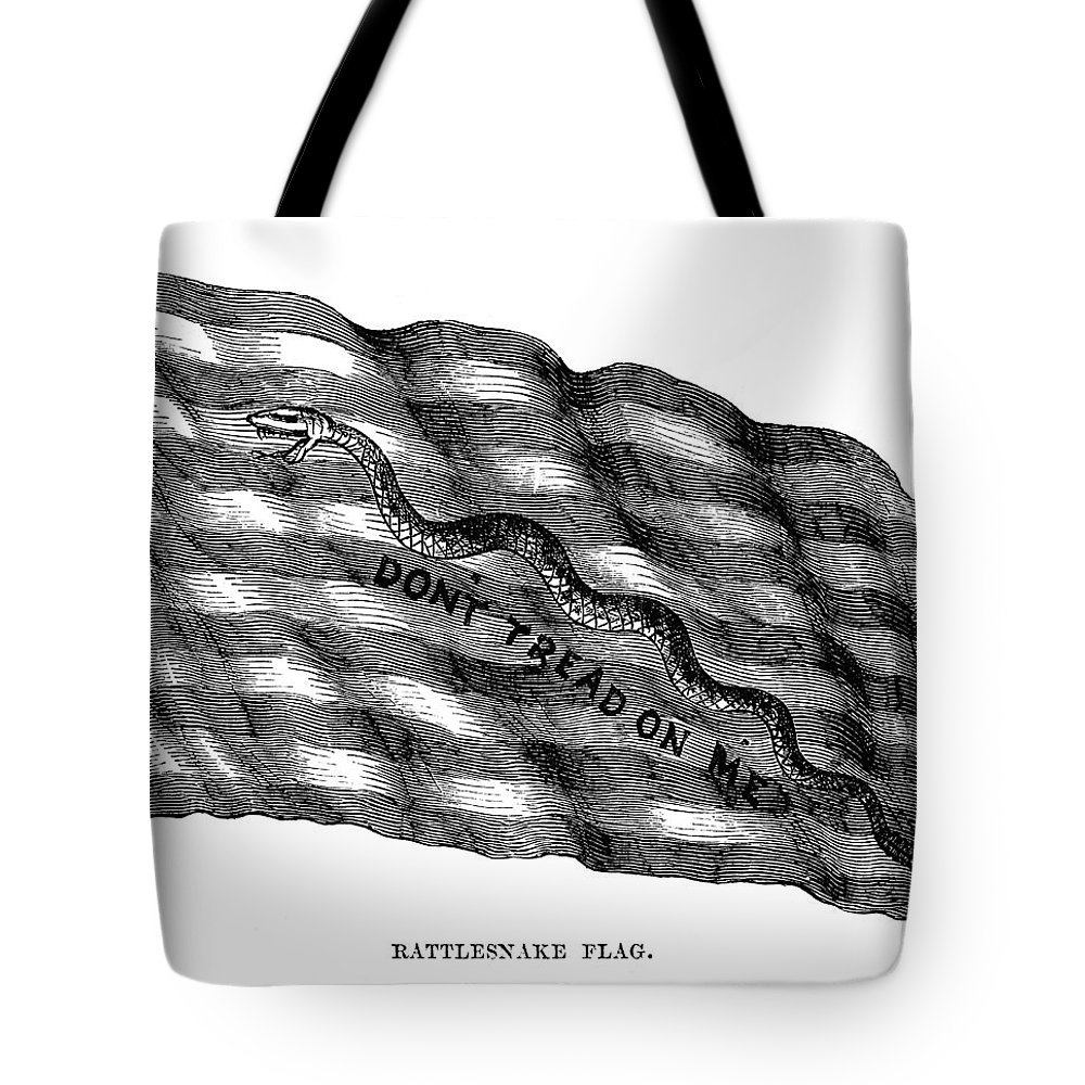 1775 Tote Bag featuring the photograph Flag: Dont Tread On Me by Granger