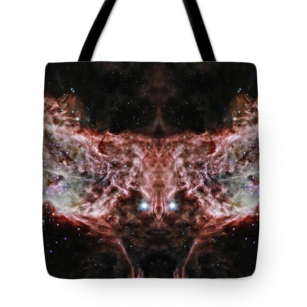Flame Nebula Tote Bag featuring the photograph Flame Nebula Reflection by Jennifer Rondinelli Reilly - Fine Art Photography