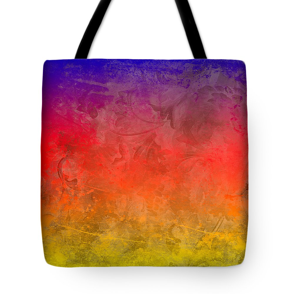 Abstract Tote Bag featuring the digital art Flame by Peter Tellone