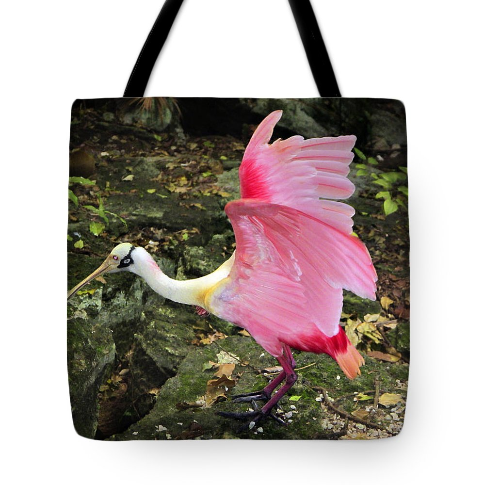 Odd Tote Bag featuring the photograph Roseate Spoonbil by Marilyn Hunt