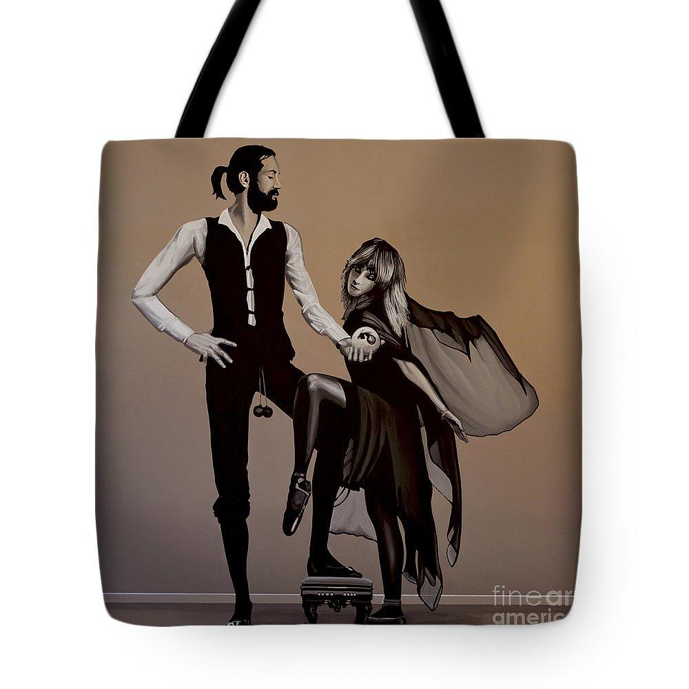Fleetwood Mac Tote Bag featuring the painting Fleetwood Mac Rumours by Paul Meijering
