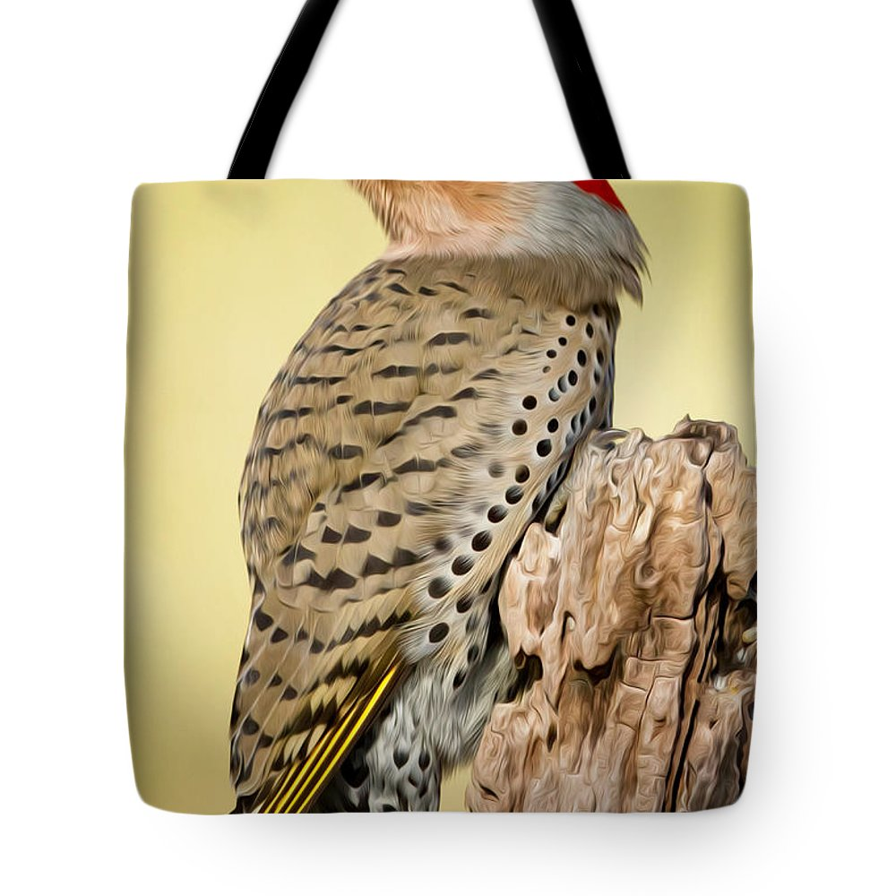 Flicker Tote Bag featuring the photograph Flicker by Bill Wakeley