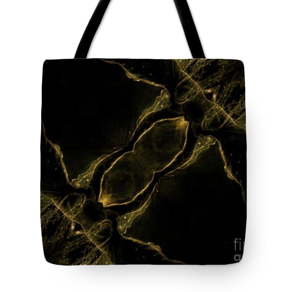 Green Tote Bag featuring the digital art Flight by Charleen Treasures