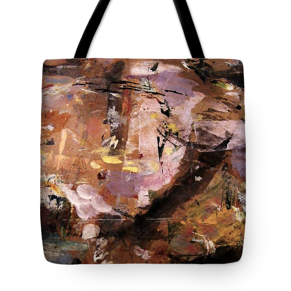 Abstract Skyscape Tote Bag featuring the painting Flight Path by Nancy Kane Chapman
