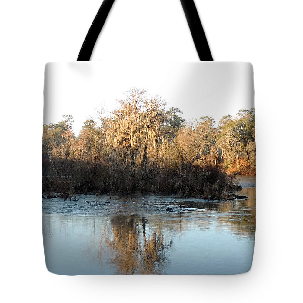 Digital Photography Tote Bag featuring the photograph Flint River 27 by Kim Pate