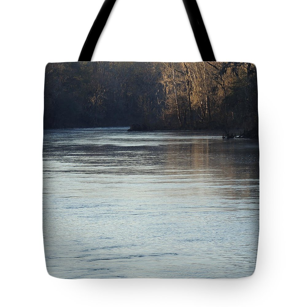 Digital Photography Tote Bag featuring the photograph Flint River 31 by Kim Pate