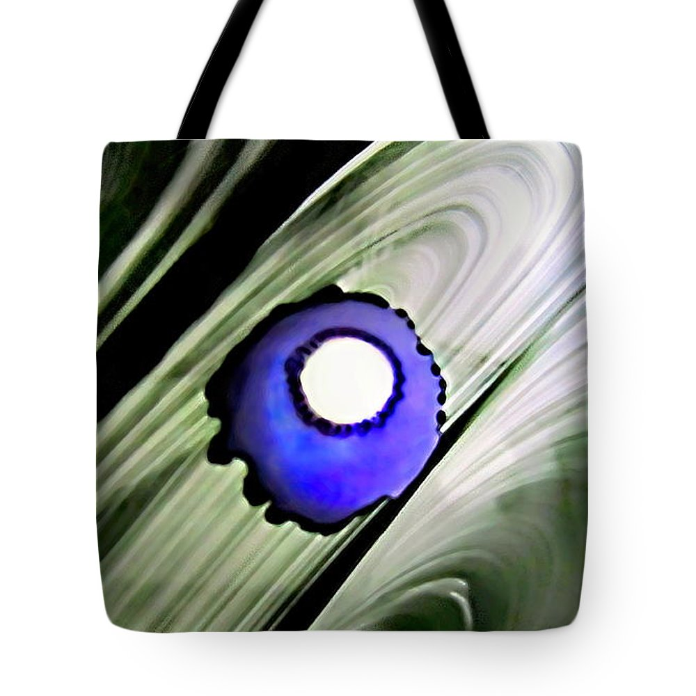 Danielle Parent Tote Bag featuring the painting Floating Dot Abstract Alcohol Inks by Danielle Parent